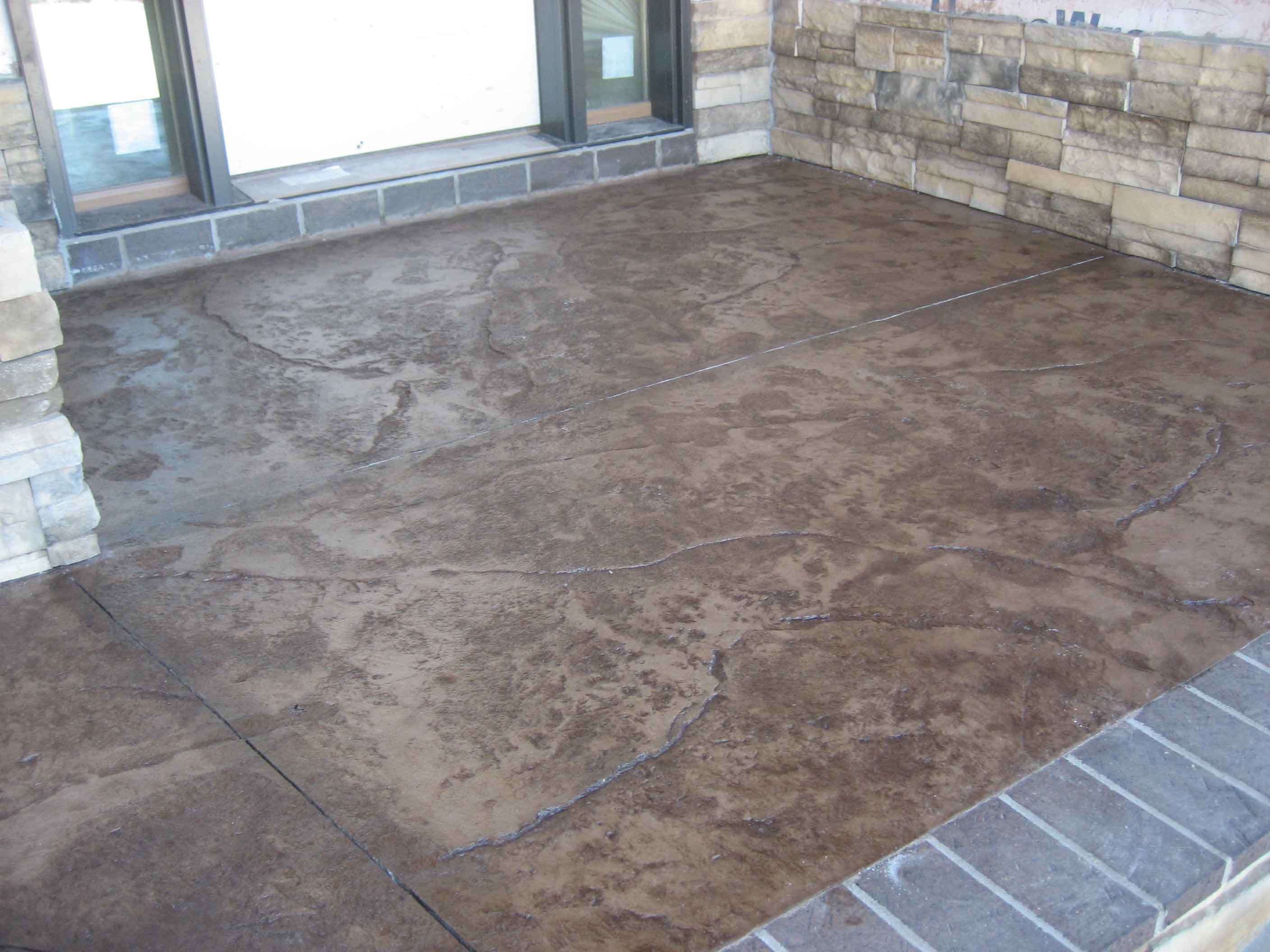 Stamped Concrete Floor Finishes : Stamped concrete all finish